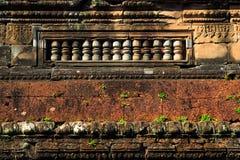 Le mur autour du wat d'ankor, Cambodge photos libres de droits