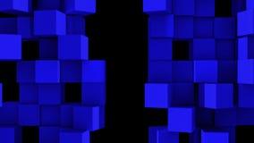 Le mur bleu des cubes se divisent illustration de vecteur