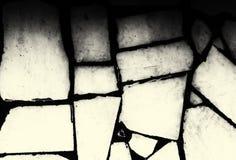Le mur carrelé blanc blanchi ressemble à une image de rayon X des os échoués de baleine Images libres de droits
