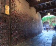 Le mur complètement des messages en maison de Juliet, Vérone Image libre de droits