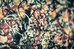 Le mur complètement des messages, Vérone, Italie Photo stock