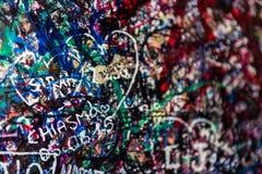 Le mur complètement des messages, Vérone, Italie Images stock