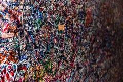 Le mur complètement des messages, Vérone, Italie Photographie stock