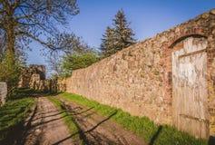 Le mur défensif images libres de droits