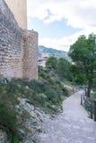 Le mur défensif de Lorca Castle photo libre de droits