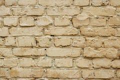 Le mur de briques est peint Image libre de droits