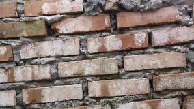 Le mur de briques rouge Images libres de droits