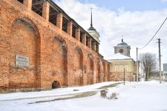 Le mur de forteresse smolensk Photographie stock