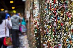 Le mur de gomme Images libres de droits