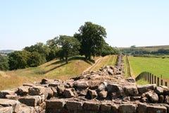Le mur de Hadrian Photos libres de droits
