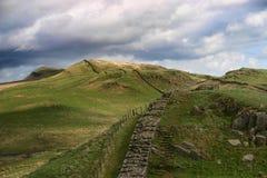 Le mur de Hadrian Photos stock
