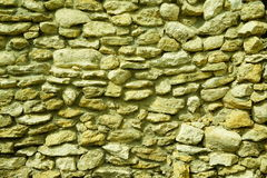 Le mur de la blocaille, la coquille de maçonnerie Image stock