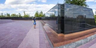 Le mur de la mémoire pour les victimes du camp Images libres de droits