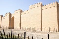 Le mur de la ville de Babylone Images libres de droits
