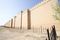 Le mur de la ville de Babylone Photos libres de droits