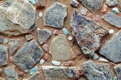 Mur de pierre et de caillou Photos libres de droits