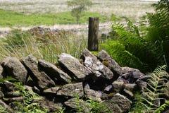 Le mur de pierres sèches Photo stock