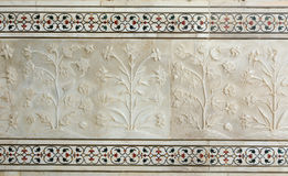 Le mur de Taj Mahal à Âgrâ, Inde Photographie stock libre de droits