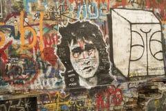 Le mur de Tsoi fragment Photos stock