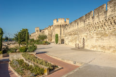 Le mur de ville d'Avignon Photos libres de droits