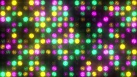 Le mur des flashes légers verdissent, dentellent et jaunissent banque de vidéos