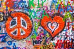 Le mur 6 des lennon de John photo libre de droits