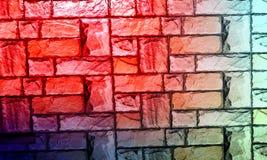Le mur a donn? au fond une consistance rugueuse avec le fond d'effet de colourfull Backgroundhead, lumi?re photographie stock
