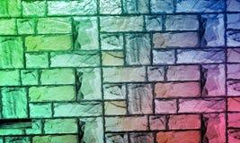 Le mur a donn? au fond une consistance rugueuse avec le fond d'effet de colourfull Backgroundhead, lumi?re photos libres de droits