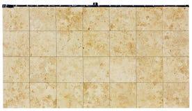 Panneaux carrés d'une roche en pierre de coquille Image libre de droits