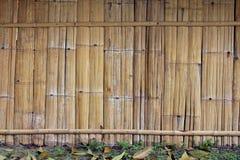 Le mur en bambou de la Thaïlande Photographie stock