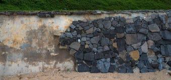Le mur en pierre image libre de droits