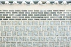 Le mur en pierre a préservé la Corée antique. Image libre de droits