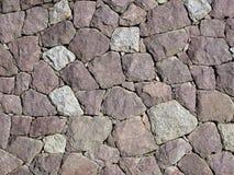 Le mur en pierre - séchez la maçonnerie réglée Photos stock