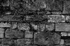 Le mur en pierre wallpapers la décoration blanche noire de fond Image stock