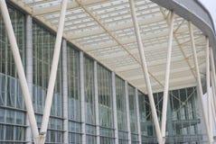 Le mur en verre et le plafond Images libres de droits