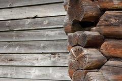 Le mur et la trame en bois Images stock