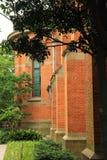 Le mur externe de l'église catholique dans Sheshan photographie stock libre de droits