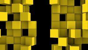 Le mur jaune des cubes se divisent illustration libre de droits