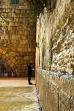 Le mur occidental à Jérusalem, Israël pendant la nuit Photos stock