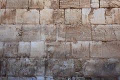 Le mur occidental, parc archéologique Photo libre de droits