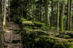 Le mur païen, Mont Sainte Odile, Ottrott, Alsage, France image libre de droits