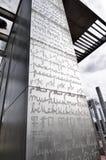 Le mur pour la paix à Paris Photos libres de droits