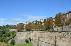 Le Mura, Citta Alta, Bergamo (Old Town) Stock Photos