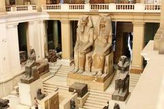 Le musée égyptien de l'intérieur images libres de droits