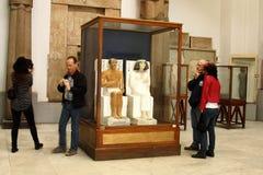 Le musée égyptien de l'intérieur Photos stock