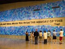 Le musée 9/11 commémoratif à New York City Images stock