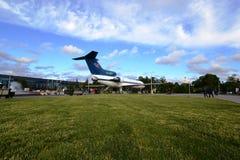 Le musée d'avions à VDNKH (Yak-42) Photos stock