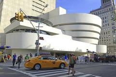 Le musée de Guggenheim dans le côté est supérieur de Manhattan image libre de droits