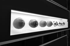 Le musée du football est un espace consacré aux différents sujets impliquant la pratique, l'histoire et le cabot, Sao Paulo, Braz image libre de droits