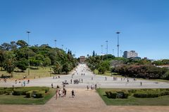 Le musée Museu d'Ipiranga font Ipiranga et parc Parque DA Independencia - Sao Paulo, Brésil de l'indépendance Images stock